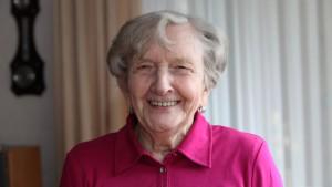 Happy Elderly Lady Pensioner